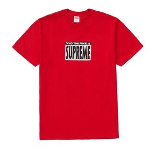 Supreme Who The Fuck is Supreme Shirt Red M